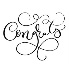 Congrats word on white background hand drawn vector