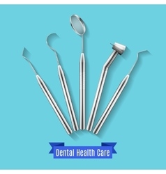 Dental health care instruments vector image vector image