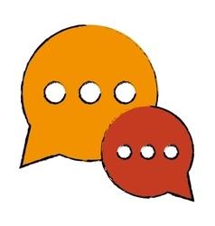 drawing bubble talk dialog chatting social media vector image vector image