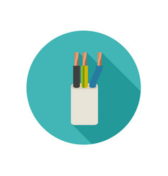 Electrical cable icon vector