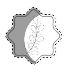 emblem rustic branches plants decoration vector image