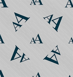 Enlarge font AA icon sign Seamless pattern with vector image