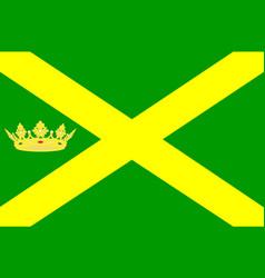 flag of aa en hunze of netherlands vector image vector image