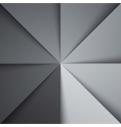 Gray and white tones folded paper triangles vector image vector image