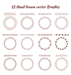 Hand drawn decorative brushes Design vector image