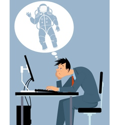 I want to be an astronaut vector image