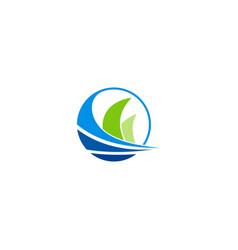 loop abstract technology logo vector image