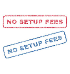 No setup fees textile stamps vector