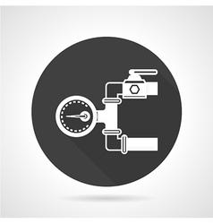Pipeline gauge black round icon vector image