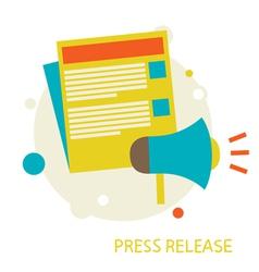 Press release vector