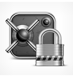 Safe icon padlock vector image vector image