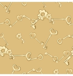 Seamless keys pattern vector image vector image