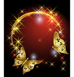 Stars and butterflies vector image vector image