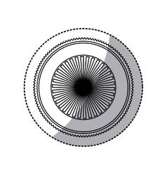Sticker of stamp circular art deco emblem shading vector