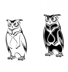 tattoo owl vector image
