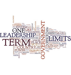 Term limits pro and con text background word vector