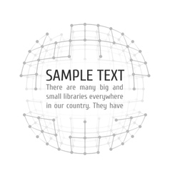 Wireframe mesh with text vector
