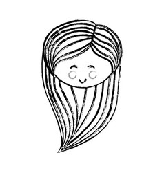 woman cute cartoon vector image vector image