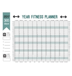 Year wall planner template plan out your whole vector