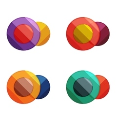 Circle banners vector