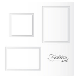 Unusual blank frames set on white background vector