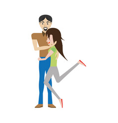Funny couple romantic image vector
