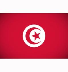 National flag of Tunisia vector image