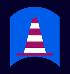 Flat icon design collection traffic cone vector