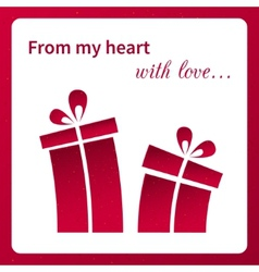 Valentines card with gifts vector image