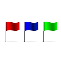 3d flags vector