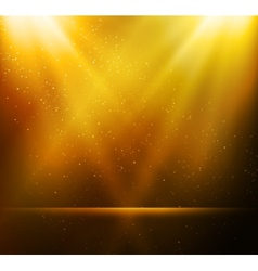 Abstract magic gold light background vector image