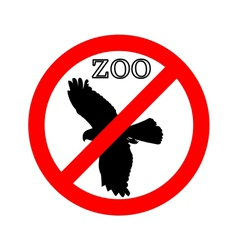 Raptor in zoo prohibited vector