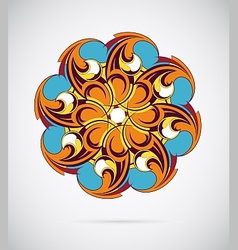 Design element - round mandala ornament vector