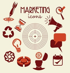marketing icons1 resize vector image