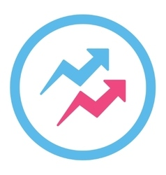 Trends icon vector
