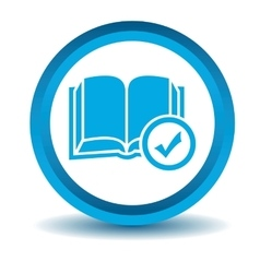 Select book icon blue 3d vector