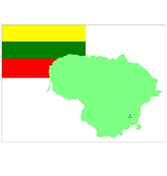 6210 lithuania map and flag vector image vector image