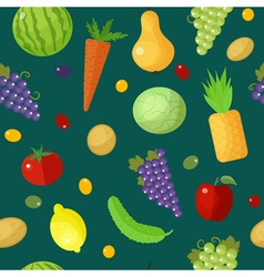Fruits and vegetables seamless pattern vector