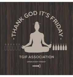 Happy friday thank god it is friday vector