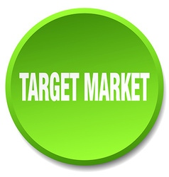 Target market green round flat isolated push vector