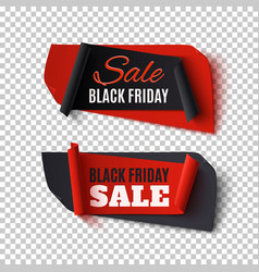 black friday sale two abstract banners on vector image