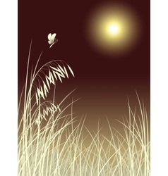Butterfly grass vector