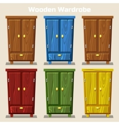 cartoon colorful closed wardrobe Living room vector image