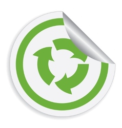 eco label with recycle symbol vector image