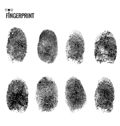 fingerprint set vector image