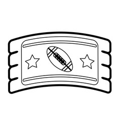 football tickets vector image vector image