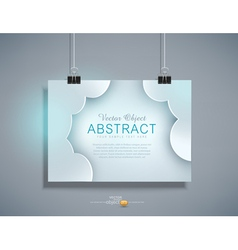grey template for design hanging on the wall vector image vector image