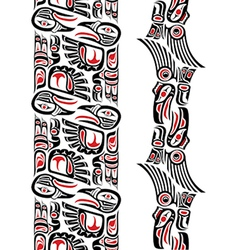 Haida style tattoo pattern vector
