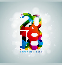 Happy new year 2018 on shiny vector
