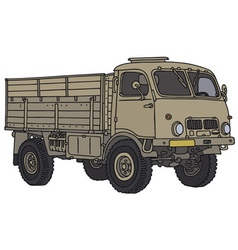 Miliary truck vector